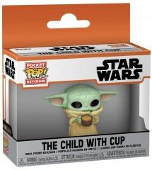 Ключодържател Funko Pop!The Mandalorian - The Child with Cup