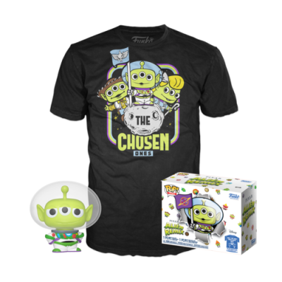Подаръчен комплект Funko POP! PIXAR ALIEN REMIX Collectors Box: ALIEN AS BUZZ (GLOW IN THE DARK) (L) POP! & Tee